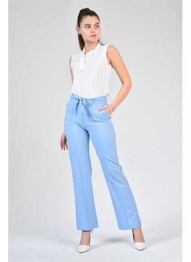 Rodi Jeans Kadın Çımalı Bol Paça Kumaş Pantolon DS21YB014082 Mavi
